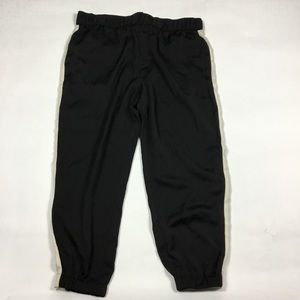 Who What Wear Pants - Who What Wear Black Silky Joggers Womens XL
